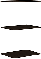 Комплект полок для шкафа Уют Сервис Гарун П107 (3шт, венге) -