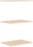 Комплект полок для шкафа Уют Сервис Гарун П107 (3шт, молочный дуб) -