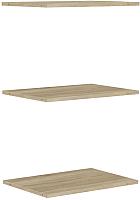 Комплект полок для шкафа Уют Сервис Гарун П107 (3шт, дуб сонома) -