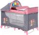 Кровать-манеж Lorelli Moonlight Rocker Pink Travelling (10080422046) -