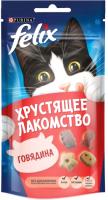 Корм для кошек Felix Хрустящее лакомство с говядиной (60г) -