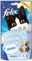 Корм для кошек Felix Хрустящее лакомство с молоком (60г) -