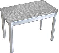 Банкетка Гальваник Пигги (эмаль серебро/кожзам ВВ 5 бенгал серый) -
