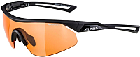 Очки солнцезащитные Alpina Sports Nylos Shield VL / A86331-35 (черный/оранжевый) -