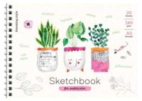 Скетчбук ArtSpace Cute Plants / Б5а20грг-28235 (20л) -