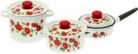 Набор кухонной посуды СтальЭмаль Рамо 26 / N26B60 (белый) -