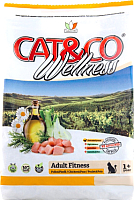 Корм для кошек Adragna Cat&Co Wellness Adult Fitness Chicken&Peas (400г) -