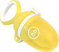 Ниблер Happy Baby С силиконовой насадкой для пюре и каш 15035 (желтый) -