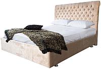 Двуспальная кровать Аметиста Богема (Velvet Lux 22) -
