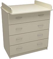 Комод ФА-Мебель Маргаритка 4 (слоновая кость) -