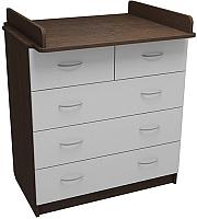 Комод ФА-Мебель Маргаритка 5 (венге/белый) -