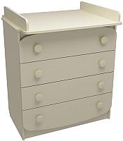 Комод пеленальный ФА-Мебель Улыбка (слоновая кость) -