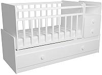 Детская кровать-трансформер ФА-Мебель Алеся (белый) -