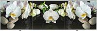 Экран для ванны Comfort Alumin Орхидея на черном 3D 170x50 -