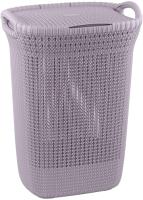 Корзина для белья Curver Knit Laundry Hamper / 240371 (57л, фиолетовый) -
