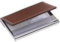 Визитница Inspirion Superb / 56-1103103 (коричневый/серебристый) -