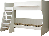 Двухъярусная кровать детская Можга Капризун 3 / Р438 (белый) -