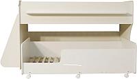 Двухъярусная кровать детская Можга Капризун 7 / Р444 (белый) -
