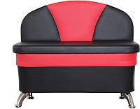 Скамья кухонная мягкая Компас-мебель КС-035-01 (черный/красный) -