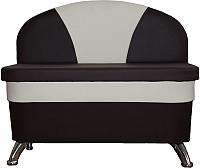 Скамья кухонная мягкая Компас-мебель КС-035-01 (темно-коричневый/молочный) -