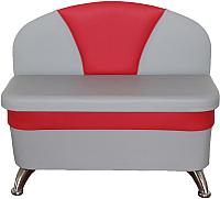 Скамья кухонная мягкая Компас-мебель КС-035-01 (серый/красный) -