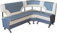 Уголок кухонный мягкий Компас-мебель КС-018 правый (серый/молочный) -