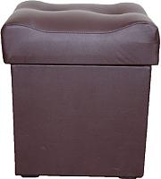 Пуф Компас-мебель КС-023-05 (кожзам темно-коричневый) -