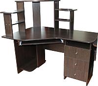 Компьютерный стол Компас-мебель КС-003-17 (венге темный) -