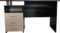 Письменный стол Компас-мебель КС-003-22 (венге темный/дуб молочный) -