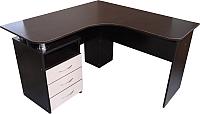 Компьютерный стол Компас-мебель КС-003-23 (венге темный/дуб молочный) -