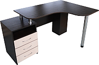 Компьютерный стол Компас-мебель КС-003-24 (венге темный/дуб молочный) -