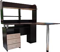 Письменный стол Компас-мебель КС-003-25 (венге темный/дуб молочный) -