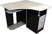 Компьютерный стол Компас-мебель КС-003-03 (венге темный/дуб молочный) -