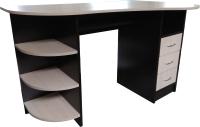 Компьютерный стол Компас-мебель КС-003-06 (венге темный/дуб молочный) -