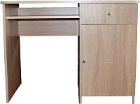 Письменный стол Компас-мебель КС-003-08 (дуб сонома светлый) -