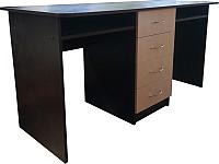 Письменный стол Компас-мебель КС-003-09(К)Д1 (венге темный/дуб молочный) -
