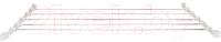 Сушилка для белья Comfort Alumin С передвижными веревками 60см -