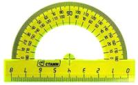 Транспортир Стамм ТР01 (180 градусов, 8см) -