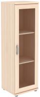 Шкаф-пенал с витриной Уют Сервис Гарун-К 301.02 (молочный дуб) -