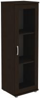 Шкаф-пенал с витриной Уют Сервис Гарун-К 301.02 (венге) -