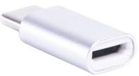 Кабель/переходник Atom USB Type-C 3.1 - MicroUSB-B (серебристый) -