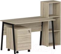 Комплект мебели для кабинета Славянская столица №2 (дуб сонома) -