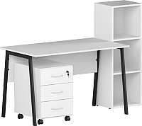 Комплект мебели для кабинета Славянская столица №2 (белый) -