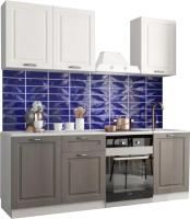Готовая кухня ДСВ Капри 1.5 (липа белый/липа пепел) -