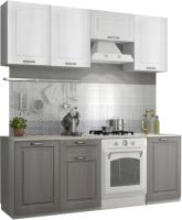 Готовая кухня ДСВ Капри 2.1 (липа белый/липа пепел) -