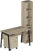Комплект мебели для кабинета Славянская столица №6 (дуб сонома) -