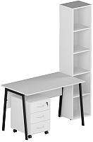 Комплект мебели для кабинета Славянская столица №6 (белый) -