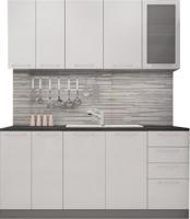Готовая кухня ДСВ Олива 1.6 (белый металлик) -