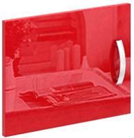 Дверь MFMaster Либерти / МСТ-СТЛ-ДС-КР-ГЛ (красный) -