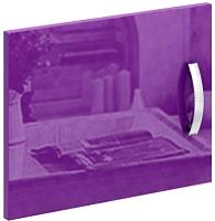 Дверь MFMaster Либерти / МСТ-СТЛ-ДС-ФИ-ГЛ (фиолетовый) -
